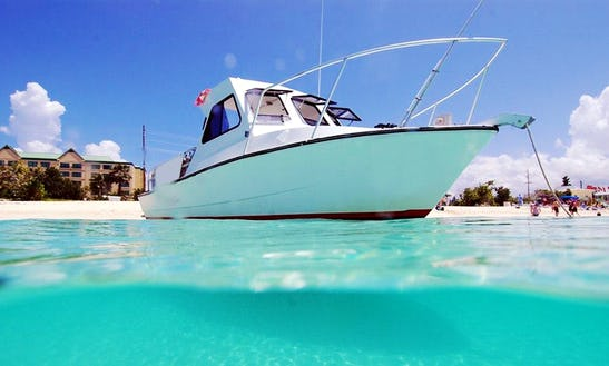 Explore The Underwater World Of Seven Mile Beach, Cayman Islands In A Custom Island Hopper Diving Charter