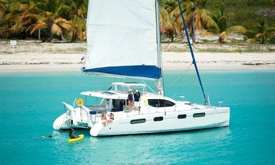46' Cruising Catamaran Seaduction Charter In Sint Maarten