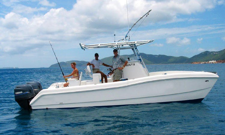Center Console Fishing Charter in Charlotte Amalie, Virgin Islands