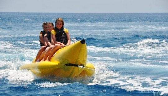 Banana Rides And Donut Rides In Rodos, Greece
