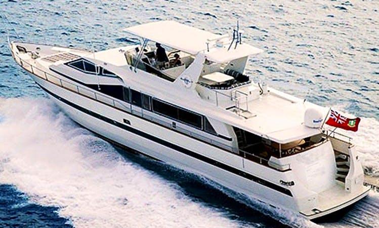 82' Motor Yacht Charter in Charlotte Amalie, U.S. Virgin Islands