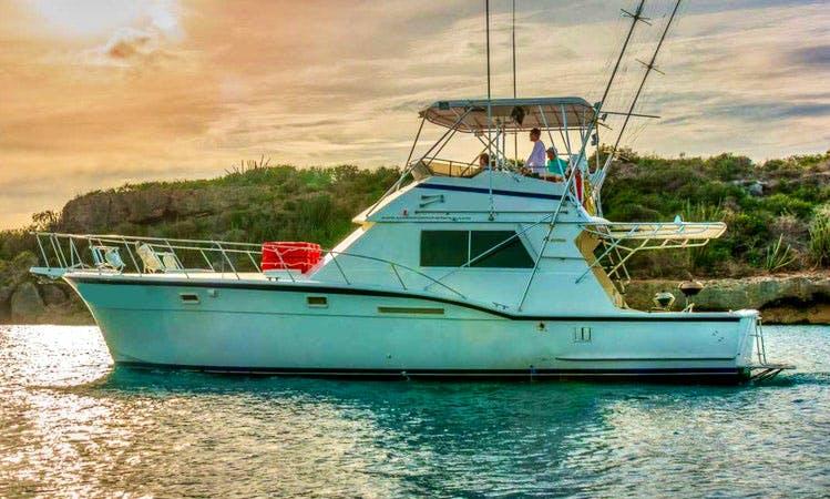 Charter 46' Hatteras 1 Motor Yacht in Seru boca, Curacao