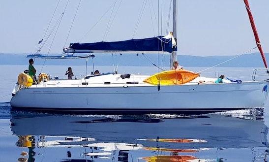 Charter 43' Cyclades 43.4 Cruising Catamaran In Milina,  Greece