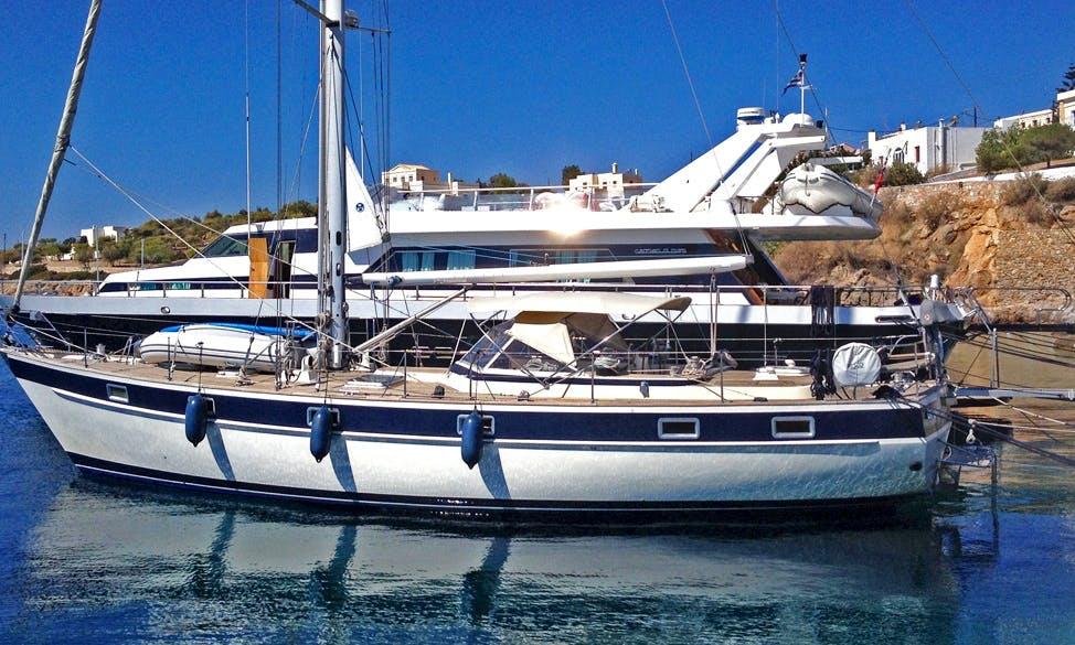 Charter a classic Hallberg-Rassy 49 with a local skipper!
