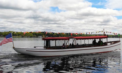 "2 hours Cruise on 50ft ""General Schuyler"" Fantail Launch Classic Yacht In Saratoga Springs, New York"