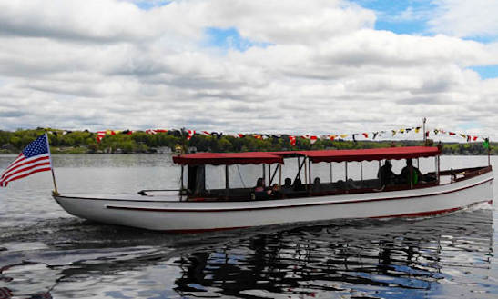 """50ft """"general Schuyler"""" Fantail Launch Classic Yacht Rental In Saratoga Springs, New York"""