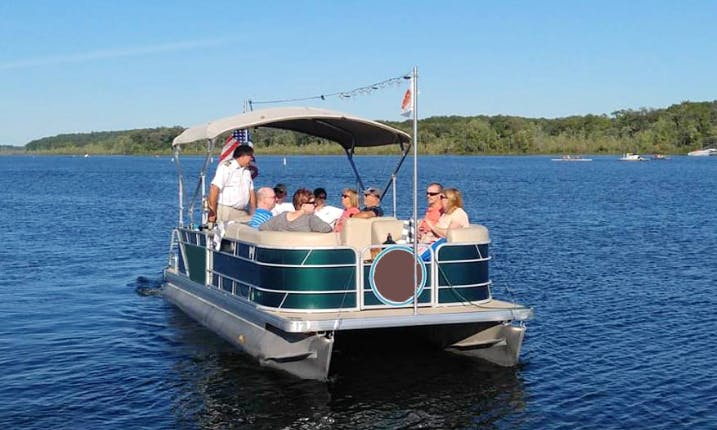"2 hours Cruise on 22ft ""Kaydeross"" Pontoon Boat In Saratoga Springs, New York"