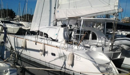 Charter 38' Lagoon Cruising Catamaran In Glifada, Greece