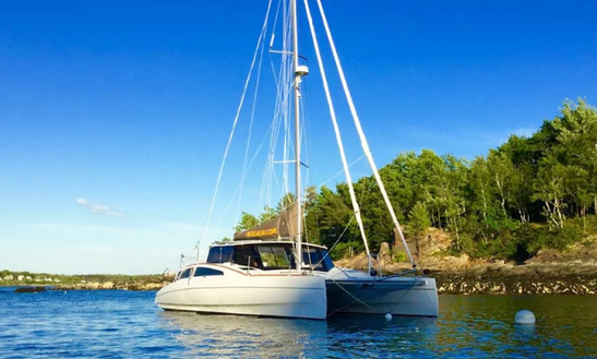 Sail Aboard A Maine Cat 38 This High Performance Sailing Catamaran Is Available In Key West Florida For Day And Sunset Sails With An Experienced Captain.