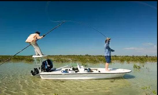 Enjoy Fishing In Deep Creek Settlement, Bahamas On Jon Boat