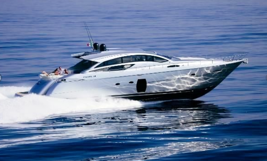 Charter 76' Pershing Day Cruiser Hard Top Power Mega Yacht In London, England