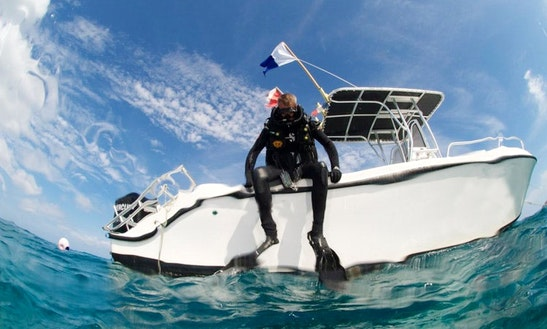 Arvor 25' Center Console Private Dive Charters In Saint Martin