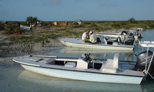 Enjoy Fishing on a Skiff in the Bahamas