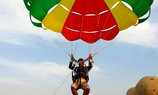 Make Memories Parasailing In Malvan, India