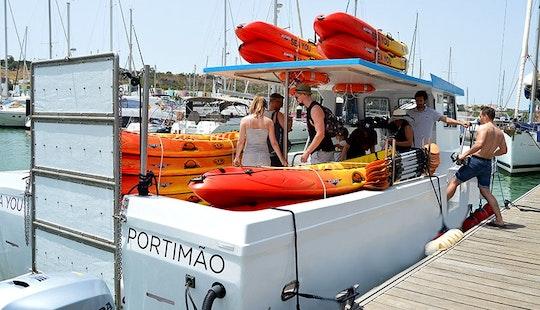 Kayaks  Coastline Tour In Albufeira, Portugal