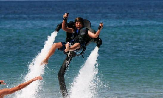 Enjoy Flyboarding In Vasilikos, Greece