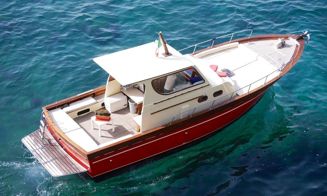 "Charter 33ft ""Sealady""CabinWalk Around Boat In Positano, Italy"