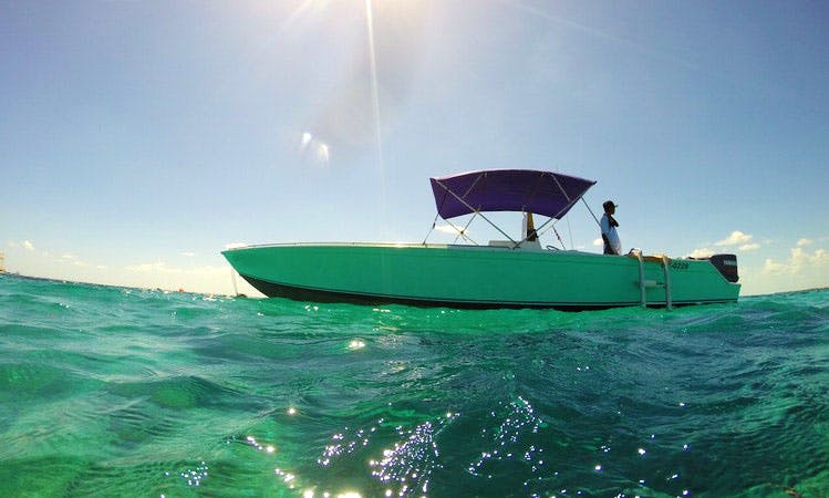 "Enjoy Private Boat Tour on 34 feet ""C- Monkey"" Center Console in San Pedro, Belize"