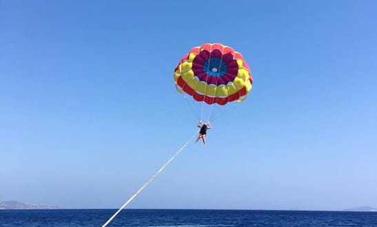 Enjoy Parasailing In Kefalos, Greece