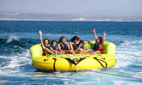 Enjoy Tubing In Karfas, Greece