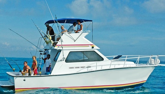 34' Sport Fisherman Yacht In Cancún, Mexico