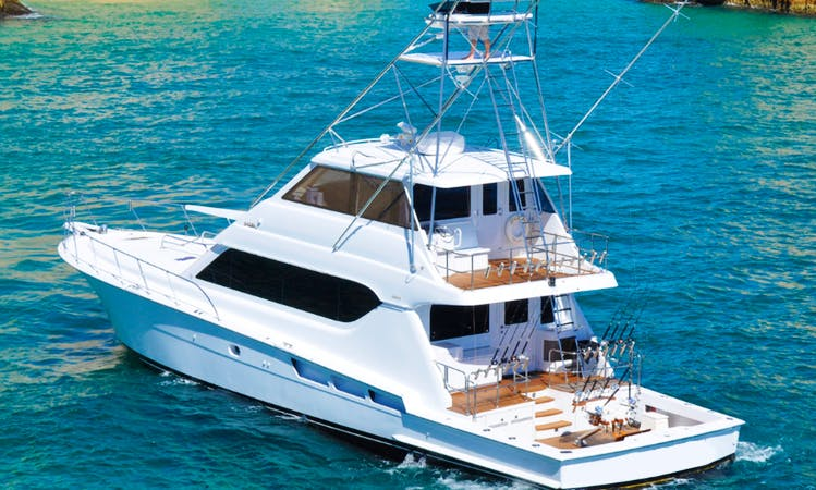 "Fishing Charter On 70ft ""Salsa"" Hatteras Yacht In Cabo San Lucas, Mexico"