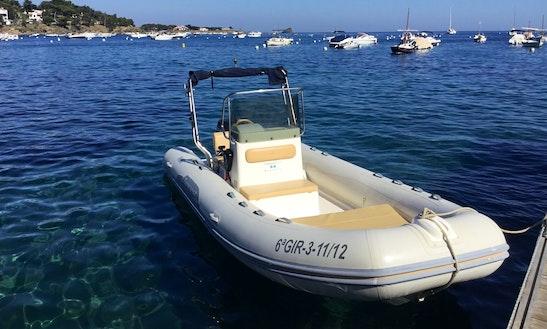 Rent 16' Tempest Hair 500 Rigid Inflatable Boat In Cadaqués, Spain