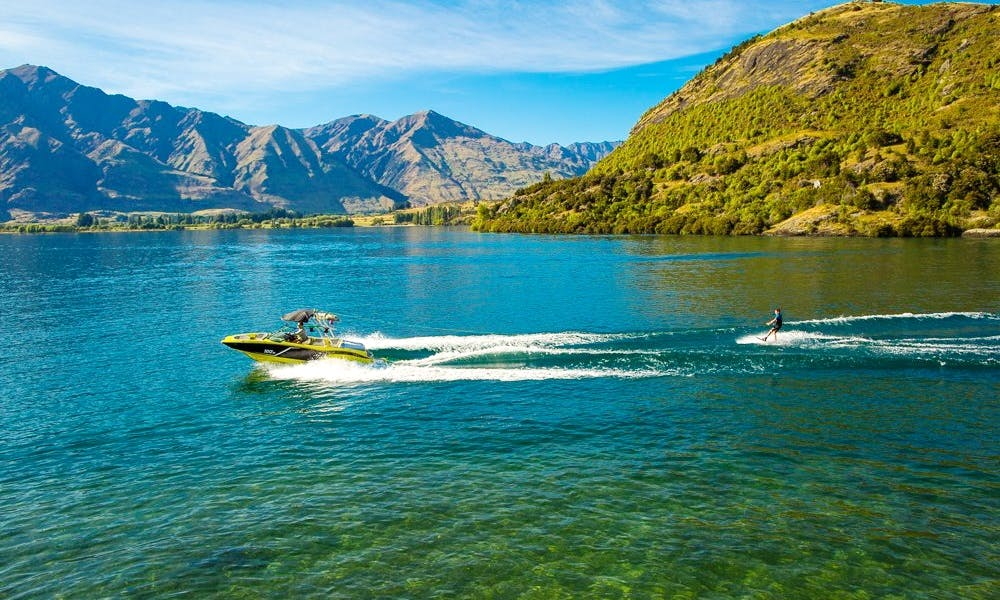 All Inclusive Charter Aboard 2015 Mastercraft Wakeboard Boat On Lake Wanaka