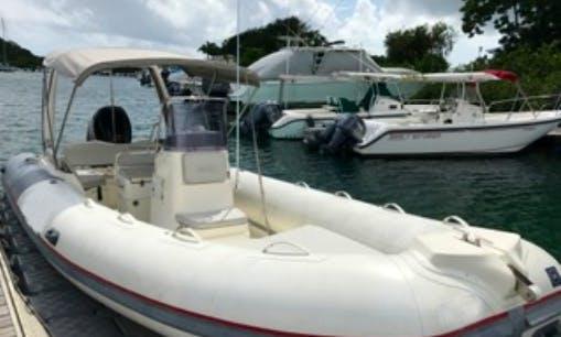 Rent 22' Semi Rigid Boat In Pointe-à-Pitre, Guadeloupe