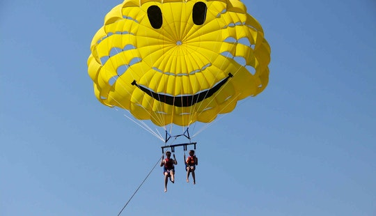 An Amazing Parasailing Experience In Rethymno, Greece