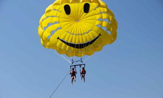 Enjoy Parasailing In Rethymno, Greece