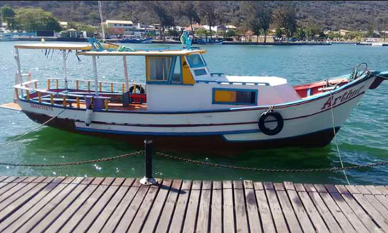 Wooden Boat For Exciting Trip In Arraial Do Cabo, Brazil!