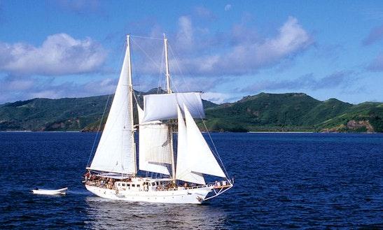 Charter 108' Schooner At Denarau Island, Fiji