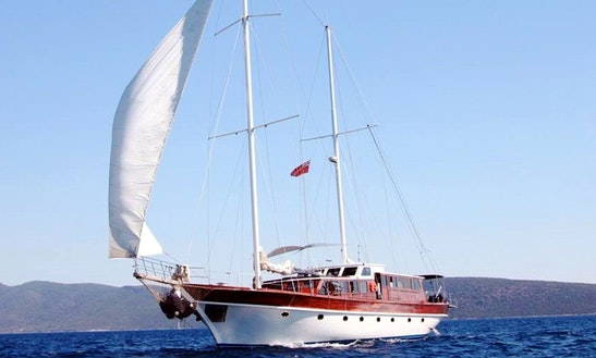 87' Sailing Mega Yacht Trips In Mugla, Turkey