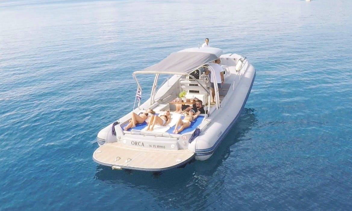 Charter 39' Orca Rigid Inflatable Boat in Syvota, Greece