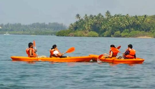 Enjoy Kayaking In Devbag, Maharashtra