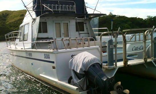 Enjoy Fishing In Korolevu, Fiji On Power Catamaran