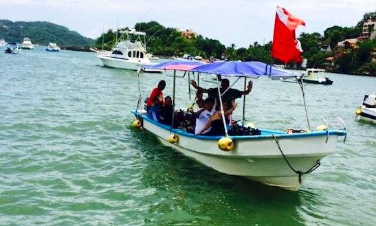 Kayak And Snorkel Tour Boat In Ixtapa Island