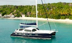 Charter 58' Privilege Cruising Catamaran in Jost Van Dyke, British Virgin Islands