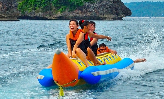 Adore The Water With A Banana Boat Rental In Lapu-lapu City, Philippines For Up To 5 People