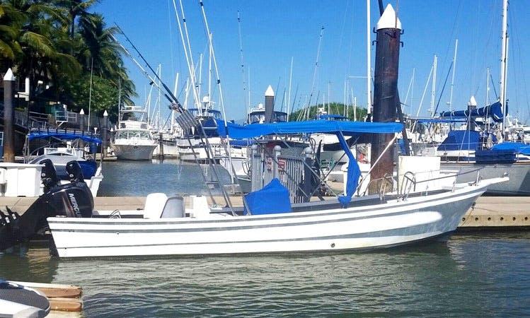 "Nuevo Vallarta Fishing Charter on ""Flipper II"" Center Console Boat"
