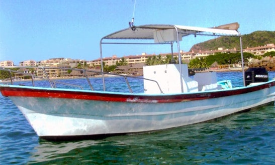 Enjoy Fishing On 24' Center Console Boat In Punta Mita, Mexico