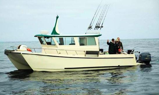 36' Cuddy Cabin Charter In Elfin Cove, Alaska