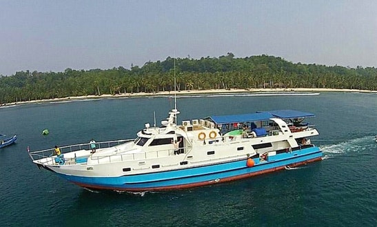 Charter 114' Passenger Boat At Mentawai Island, Siberut
