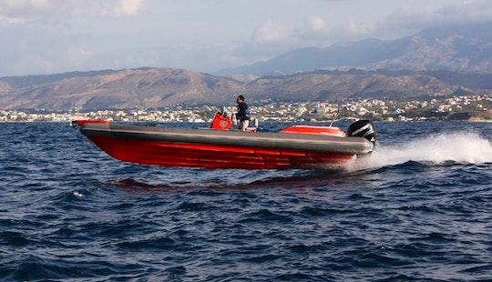 Charter 28' Skipper 4u Rigid Inflatable Boat In Paleo Faliro, Greece