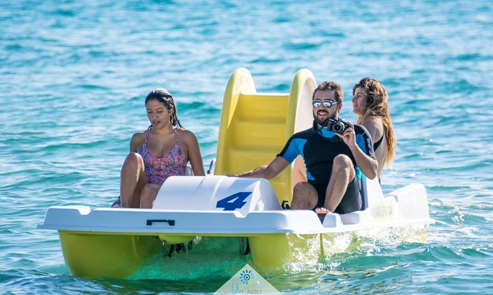 Explore Chalkidiki, Greece on a Paddle Boat for 5 people