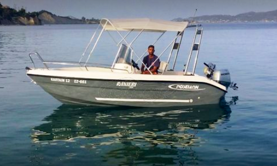Hit The Water In Agia Pelagia, Greece On Ranieri Center Console