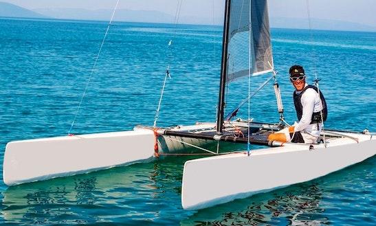 Rent 18' Catamaran A Class Beach Catamaran In Medulin, Croatia