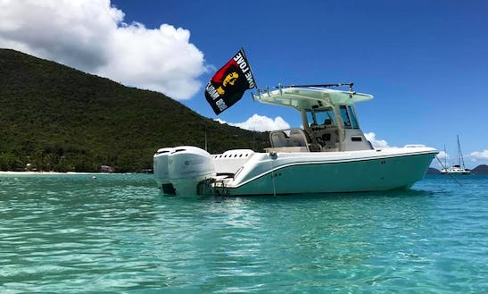 28' Everglades Boat Rental In U.s. Virgin Islands
