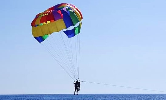 Enjoy Parasailing In Kerkira, Greece